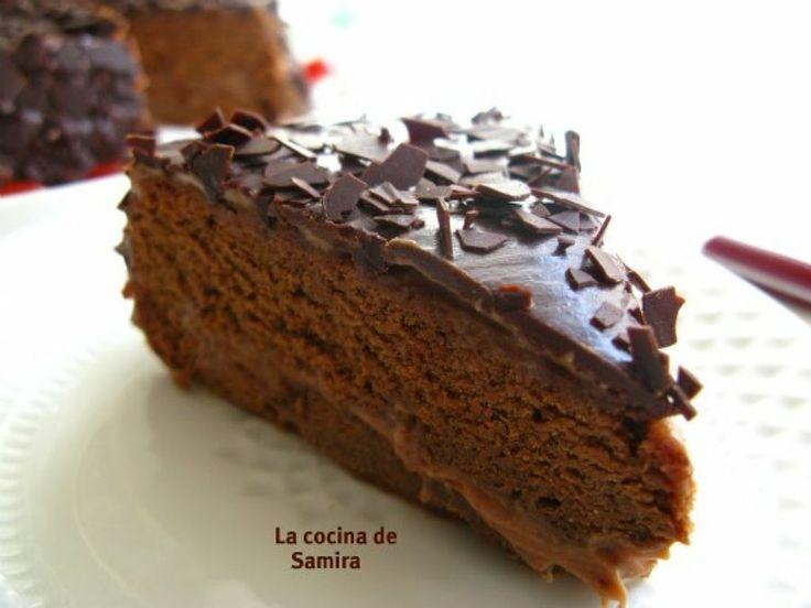 Tarta de moka. Te explica como prepararla la autora del blog La Cocina de Samira.