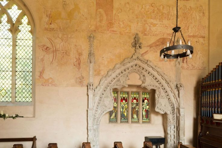 #Ancient drawings on the walls inside St Marys #Church in Belchamp Walter