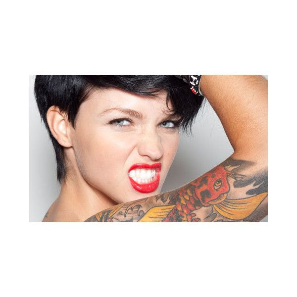 Ruby Rose Sydney's sexiest person ❤ liked on Polyvore featuring ruby rose