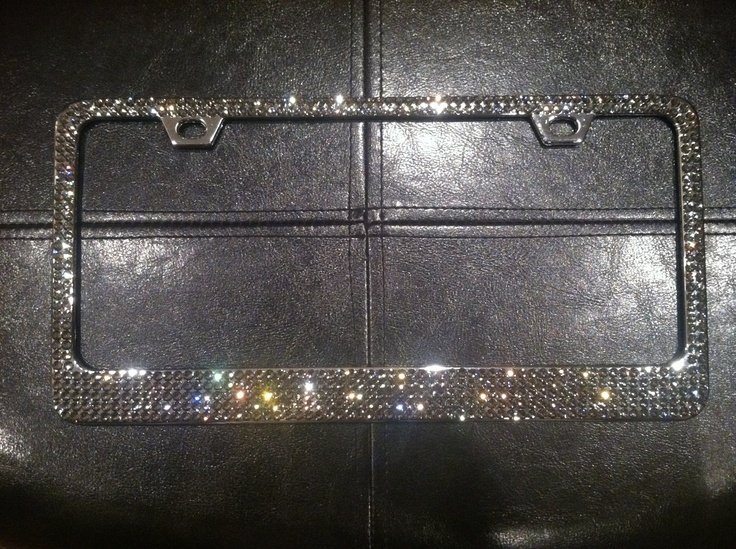 black diamond license plate frame