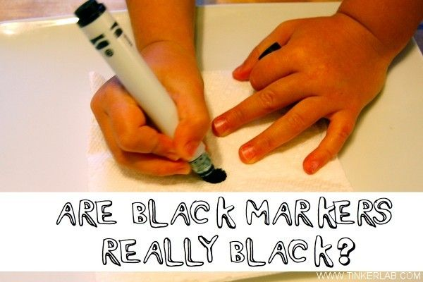 Experiment: Are black markers really black? Teaching chromatography