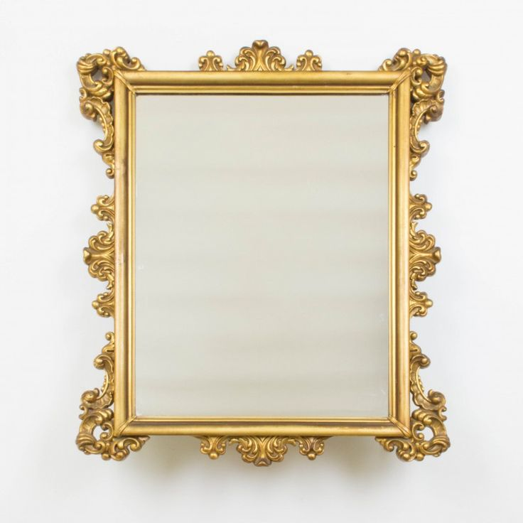 Rectangular gold mirror | Mirrors | Objects and decoration