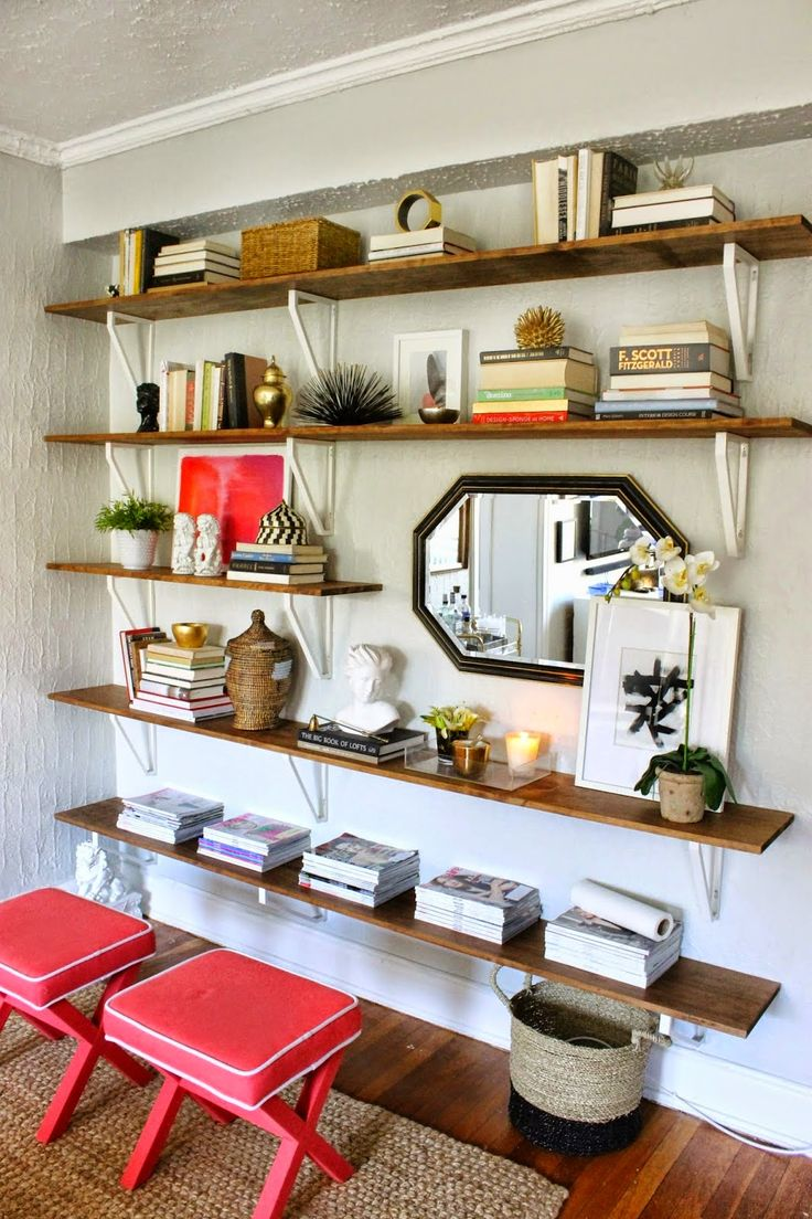 shelves using Ikea brackets