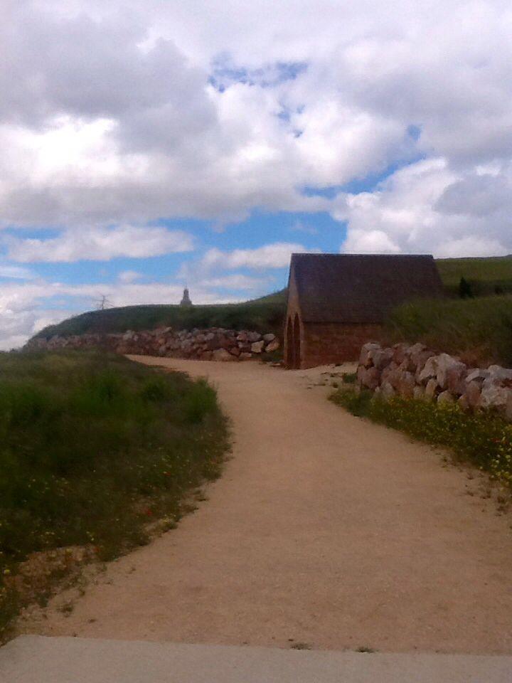 Camino de Santiago ,approaching Villamayor  de Manjardin