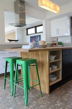 kelly green tolix bar stools -- Madison Modern Home, Los Angeles