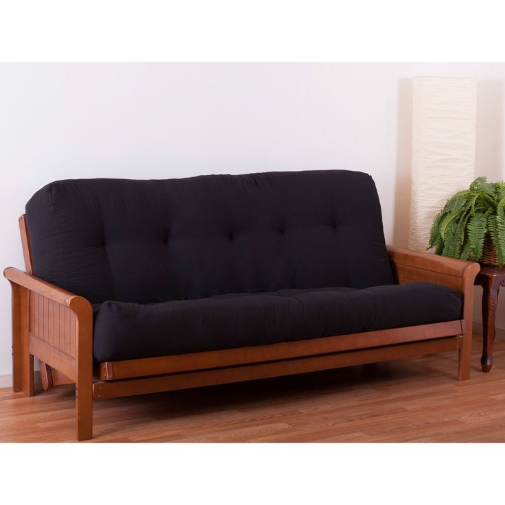 "Dimensions:  Overall Thickness: -9"".  Overall Width - Side to Side: -54"".  Overall Product Weight: -71 lbs.  Overall Length - Head to Toe: -75"".  --The Blazing Needle Innerspring 9"" Full Size Futon Ma"
