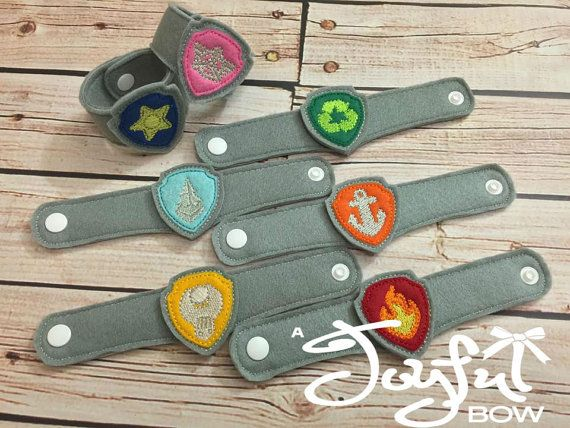 Paw Patrol Badge wristbands by ajoyfulbow on Etsy
