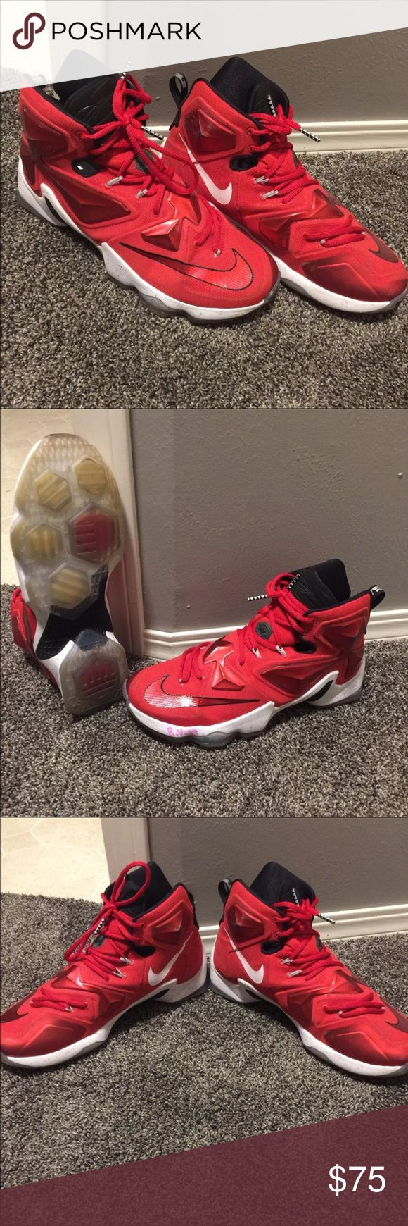 Lebron 13 Worn for basketball a few times 8.5/10 condition and little word on side (initials) Nike Shoes Athletic Shoes