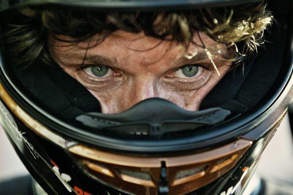 Guy Martin at the Isle of Man TT start line.