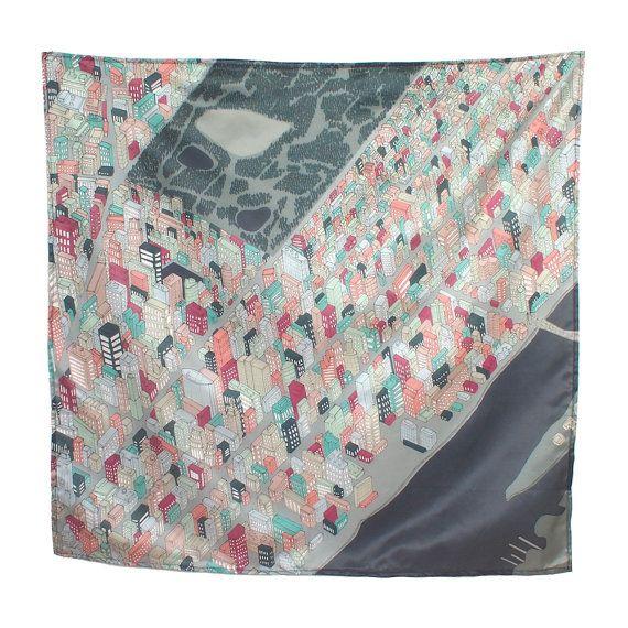 new york city silk cotton scarf - megan mckean