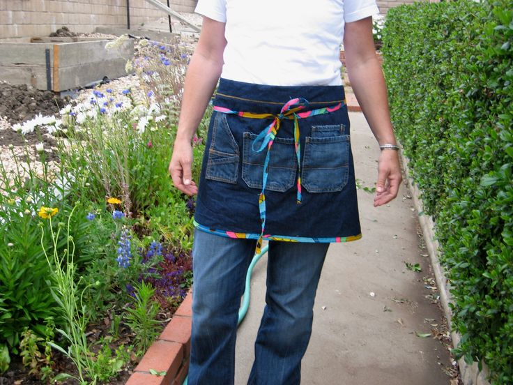 Recycled Jeans gardening Apron