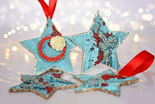 #diy #star #christmas #ornament #recycle #pentart