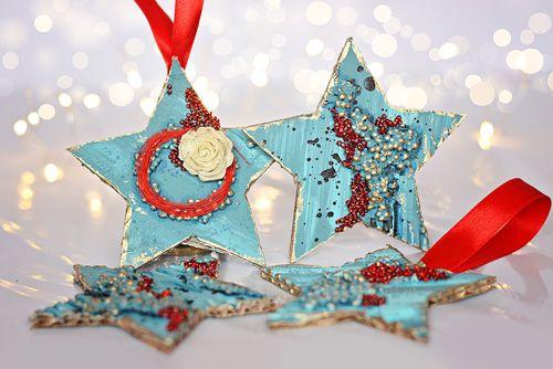 #diy #star #christmas #ornament #recycle #pentart
