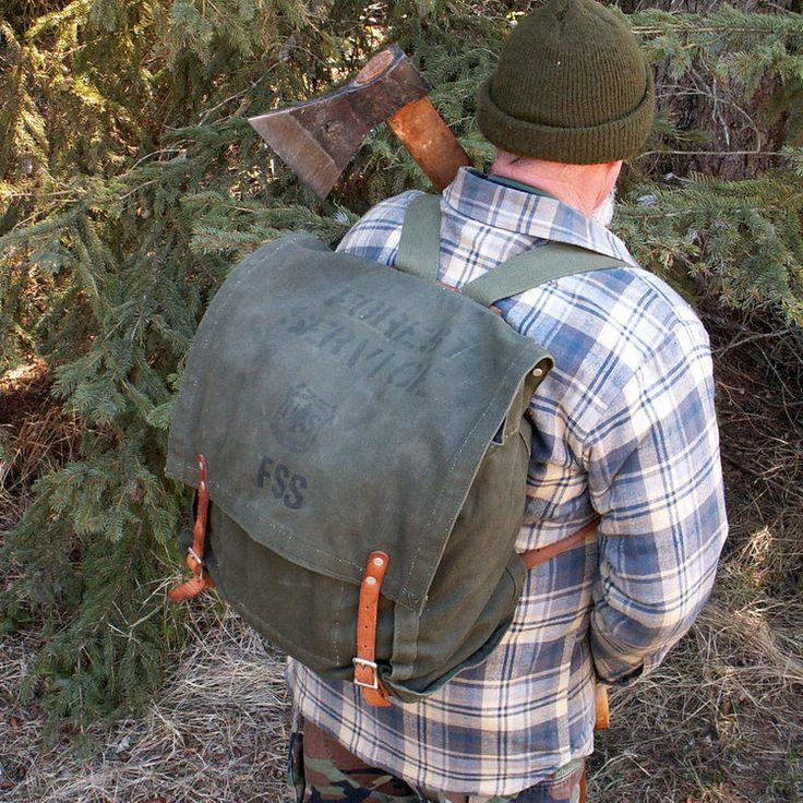 Indian Wilderness Survival Skills: Vintage US Forest Service Backpack