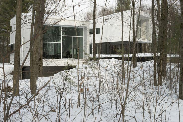 La Maison Blanche - Drummondville (Ville) / Centre-du-Québec (Canada)- Architecte : Atelier Pierre Thibault - Photo : Alain Laforest