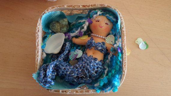 Little Mermaid doll Pink Hair Mermaid Fantasy Doll by AubreyMade