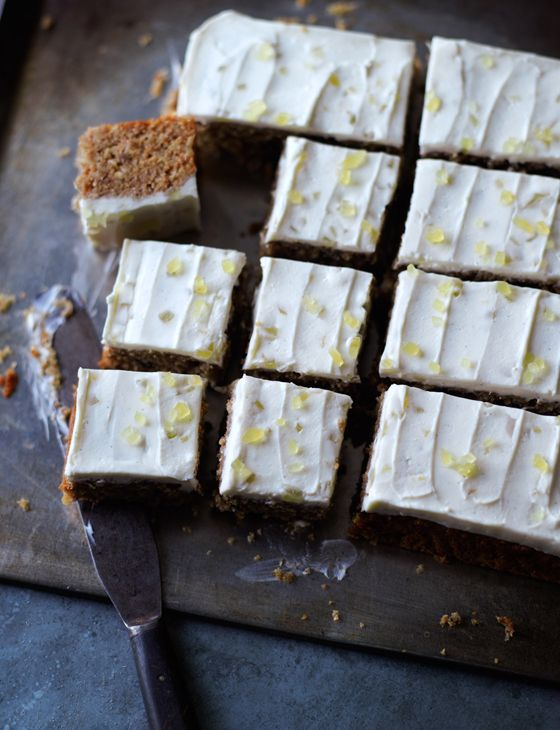 Parsnip and pecan traybake - from model-turned-patissiere Lorraine Pascale