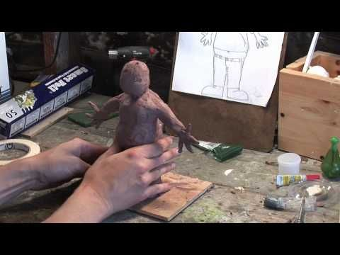 ▶ Stop Motion Puppet Making Video 2: Sculpting A Puppet - YouTube