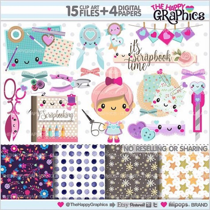 She is a crafty girl because she loves making creative and beautiful things ✂️✂️ GRAPHICS PACK: Scrapbooking cliparts + digital papersPersonal & Small COMMERCIAL USE Get it: www.TheHappyGraphics.Etsy.com (Link in my Bio) You'll love it .......... #etsy #scrap #scrapbooking #scrapbook #printable #scrapping #party #partytime #partysupplies #partydecoration #planner #plannerlove #plannercommunity #plannergoodies #happyplanner #kawaii #planners #plannergeek #plannergirl #p...
