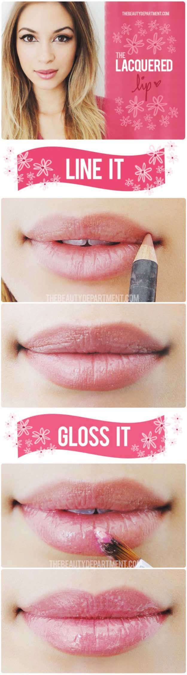 Tips for Lining Your Lips Like a Pro - The Lacquered Lip - Easy Tutorials and Awesome Hacks For Lip Liners - Kylie Jenner Tutorials and Black Women Tips - Thin Contouring Tutorials and Hacks for Eye Brows - Natural Shape Eyes - Simple Tricks for How to Apply Pencil Liners and Eyeshadows - thegoddess.com/tips-lining-your-lips