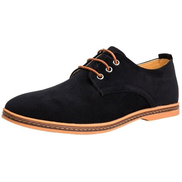 4How Men Oxford Shoes Casual Lace Up ($23) ❤ liked on Polyvore featuring men's fashion, men's shoes, mens oxford shoes, mens wide fit shoes, mens lace up shoes, mens wide shoes and mens shoes