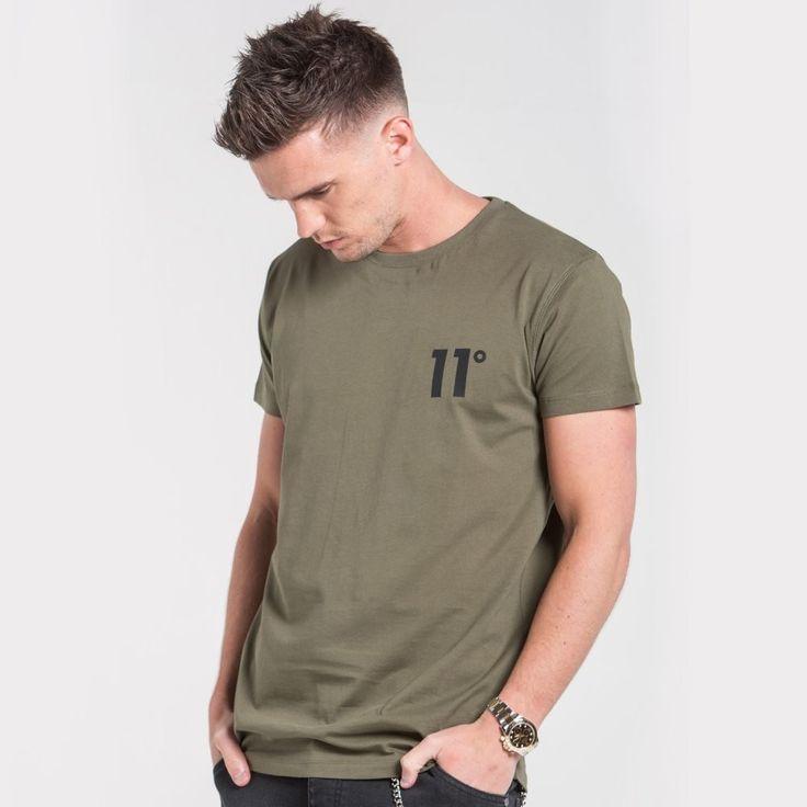 Core Tee Shirt Khaki by 11 Degrees