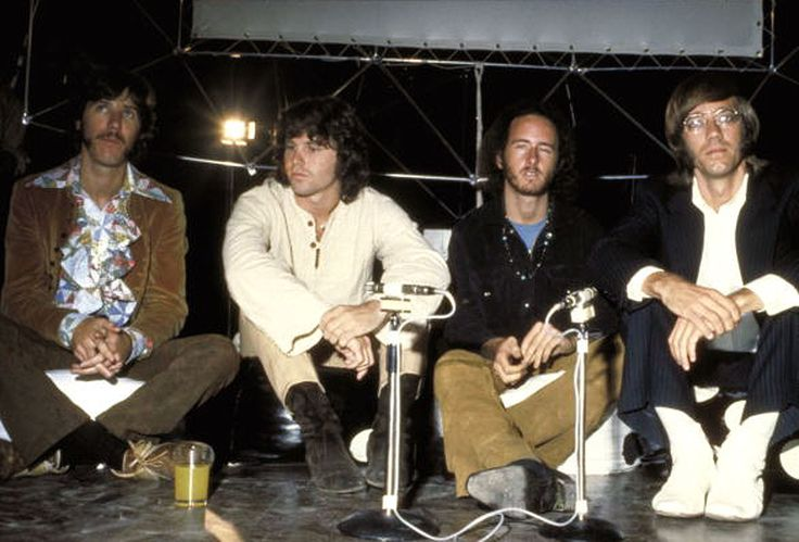 """Sept. 4, 1968: The Doors hold a press conference in the """"Cybernetic Serendipity"""" exhibition at the Institute of Contemporary Art (ICA) in London."""
