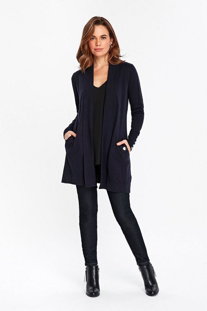 Wallis Navy Shawl Cardigan Size S UK 8 10 rrp 33 DH180 SS 11  fashion   clothing  shoes  accessories  womensclothing  sweaters (ebay link) f8f2b3479