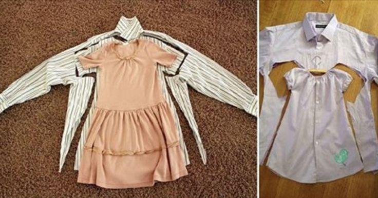 V mnohých prípadoch nemusíme staré a nepotrebné oblečenie hneď vyhadzovať, ale jednou z možností je vyrobiť si z neho niečo nové. Napríklad si môžete vyrobiť nádherné šaty pre malé dievčatko...