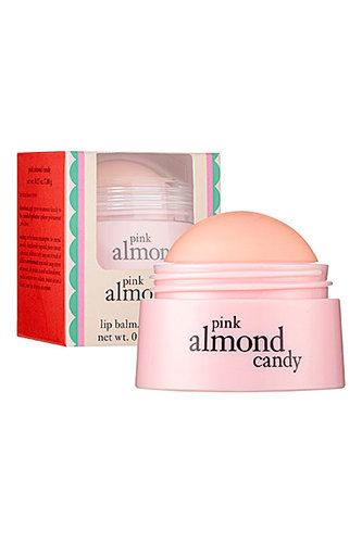 Pink almond candy lip balm by Philosophy.