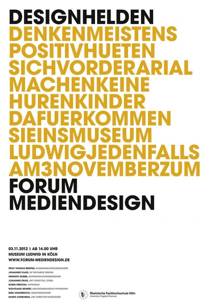 6. Forum Mediendesign der Rheinischen Fachhochschule Köln