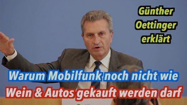 Gedanken-Tüdelüt (26): Günther Oettinger - Ist der Kunst oder kann der weg?