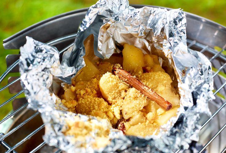 Papillot van appels met kaneel, Amaretto en crumble