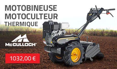 [28/02/2018] Motobineuse motoculteur thermique McCulloch MRT6 611960910021 #jardinage #mcculloch #motobineuse #motoculteur