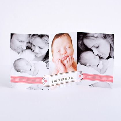 47 best Birth Announcements images – Tri Fold Birth Announcement