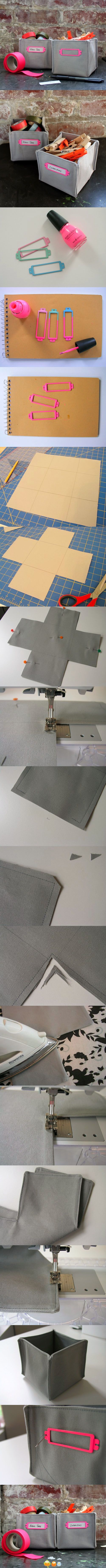 tuto panier rangement tissu