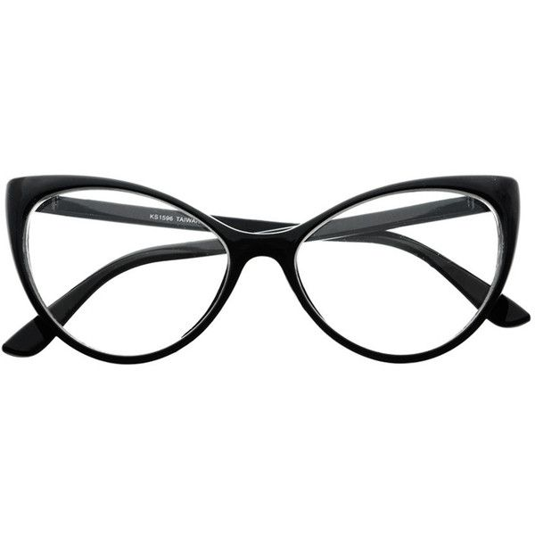 Clear Lens Large Womens Retro Cat Eye Glasses Frames C76 freyrs ($5) ❤ liked on Polyvore featuring accessories, eyewear, eyeglasses, clear lens glasses, clear eyeglasses, retro style glasses, cat eyeglasses and clear glasses