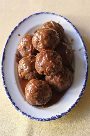 Welsh-Style Pork Meatballs with Onion Gravy (Faggots with Onion Gravy)