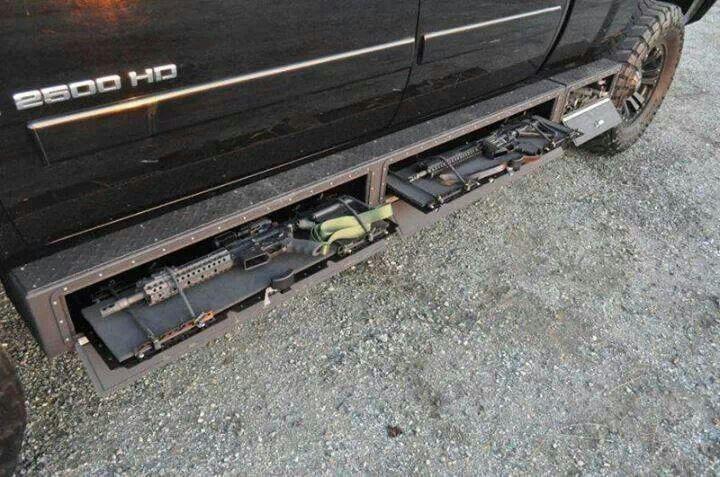 Hidden compartment cool pinterest for Cool hidden compartments