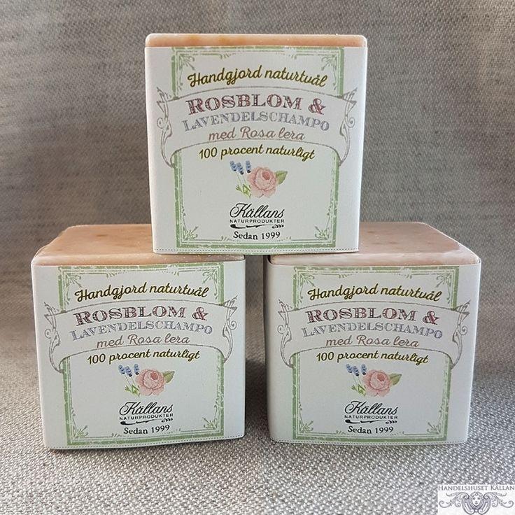 Ros & Lavendelschampo i kubform - 100% Naturligt från Källans Naturprodukter