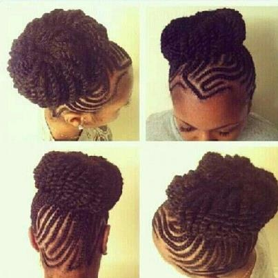 cute cornrow hairstyles : Braided updo natural hair Cainrow Hairstyles Pinterest Braided ...