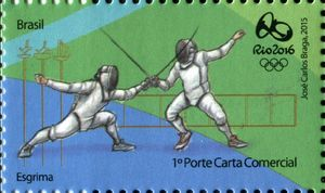 Sello: Fence (Brasil) (Olympic and Paralympic Games Rio 2016 second series) Mi:BR 4260,WAD:BR058.15,RHM:BR C-3469