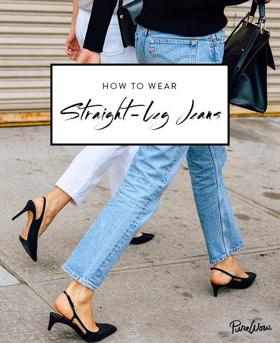 They're baaaa-ack. Levi's 501 jeans are the mothers of all non-stretch, high-rise denim. Although tough to find in stores, there's a wealth of options when it comes to vintage shopping online, especially on Etsy. Note: Sling-backs not required.    How to Wear Straight-Leg Jeans via @PureWow