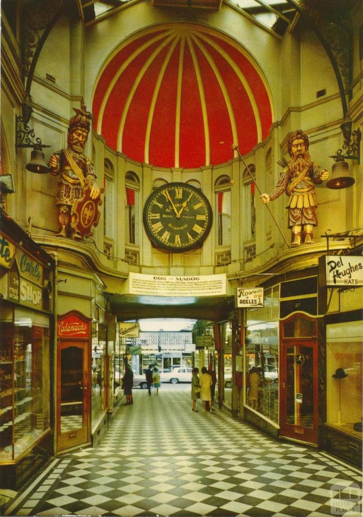 Gog and Magog, Royal Arcade, Melbourne