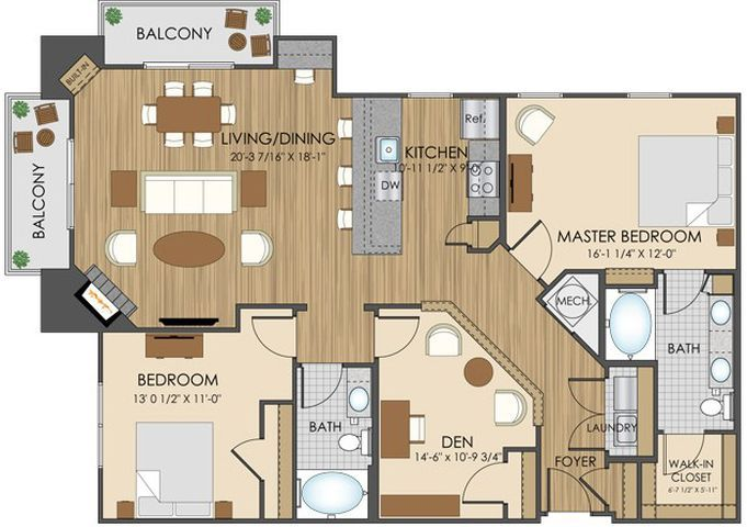 Best 25 apartment floor plans ideas on pinterest for Cheap garage apartment plans