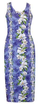 orchid long flower tank hawaiian dress