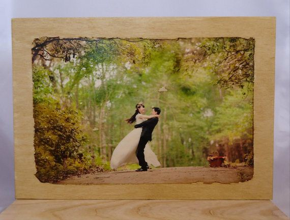 Your photo with wedding. by VipWood on Etsy