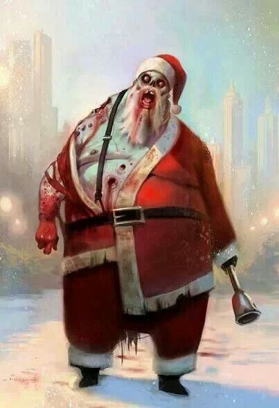 Zombie Santa. Love it ❤️                                                                                                                                                                                 More