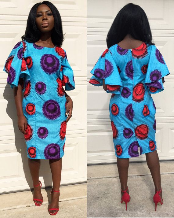 Robe à imprimé africain robe Ankara vêtements par Shoplolaster