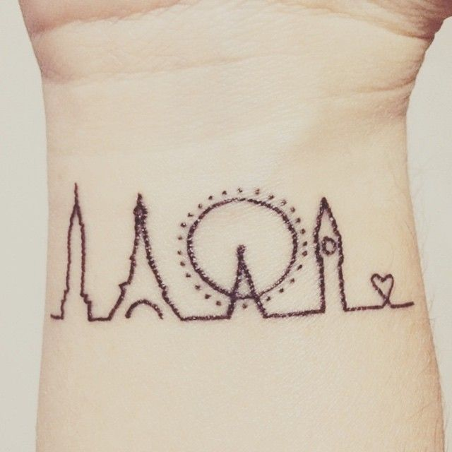 Capitals  #paris #eiffeltower #london #bigben #london #londoneye #empirestatebuilding #newyork #travelling #wanderlust #leavingonajetplane #worldwide #tattoo #tat #tattoos #inspiration #art #feminine #minimalistic #ink #inked #bodyart #tats #tattooart